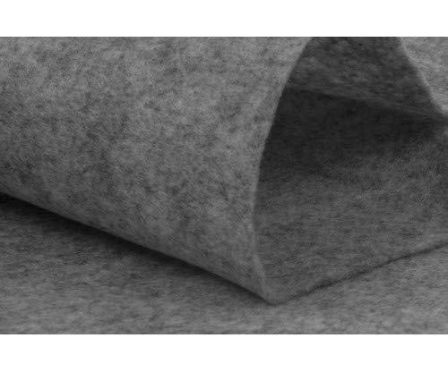 woolove Filztuch 1 Meter 100cm x 180cm, Dieser Stoff ist perfekt für alle Arten von Heimwerkerarbeiten.graue Melange