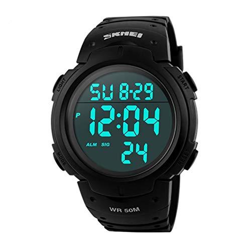 Skmei Reloj digital con pantalla grande y clara de 50 m resistente al agua estilo deportivo con alarma gran reloj deportivo