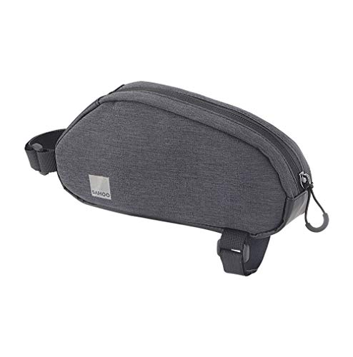 Roswheel Essentials Series 121468 Bike Frame Bag Bicycle Top Tube Pack Cycling Accessories Pouch Cell Phone Holder, Black