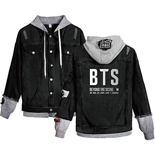 JUNG KOOK Kpop BTS Denim Jacket Love Yourself Jimin SUGA Army Hoodie Coat Merchandise