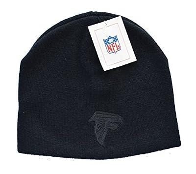 Reebok Black on Black Tonal Skull Cap - NFL Knit Toque Cuffless Beanie Hat