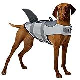 CITÉTOILE Perro Chaleco Salvavidas Chaqueta Mascotas Salvavidas Reflexivo para Piscina, Playa, Canotaje, para Perros pequeños, medianos, Grandes Que entrenan con manija de Rescate Gris XS