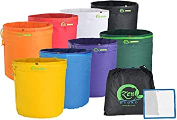 iPower GLBBAG5X8 Essence Herbal Ice Bubble Hash Essene Extractor Kit 8-Pack Pressing Screen & Storage Bag 5 Gallon 8 Multi Color