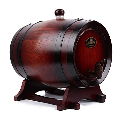 Xhui66 Exquisite 10 Eichenweinfässer Weinfässer selbstgebraut Eichenfässer ohne Gallenblase Gärfässer Eichenfässer Harz Lagerung Wein und Spirituosen, Zwei Farben, mehrere Kapazitäten