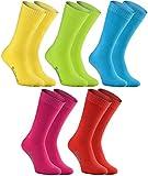 Rainbow Socks - Hombre Mujer Calcetines de Felpa Calidos y Coloridos - 5 Pares - Multicolor - Talla 36-38