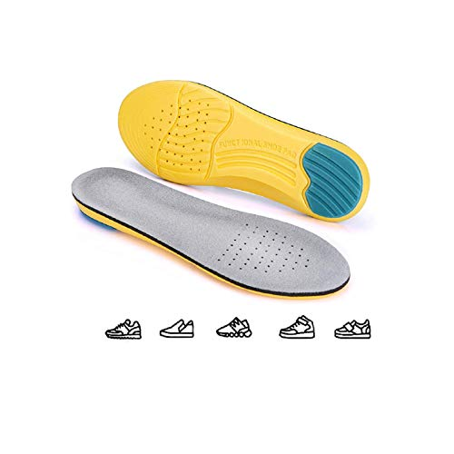 Robylin Soft Shoes Inserts for Women & Men, Comfortable Breathable Shoes Insoles, Shock Absorption Feet Cushions, Trimmed to Anysize Great for Most Kinds of Shoes, Casual Use, L