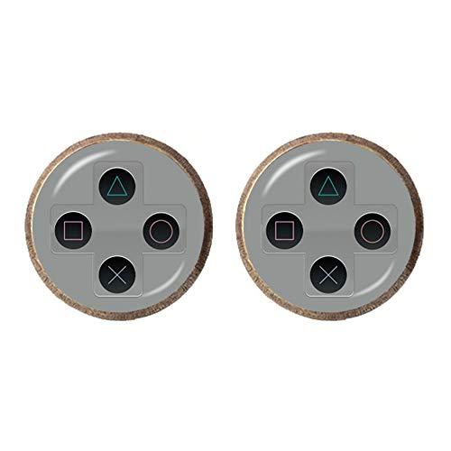 Pendientes de controlador de videojuegos vintage para videojuegos, regalo de joyería retro controlador Gamepad clave imagen 12 mm Stud Pendientes