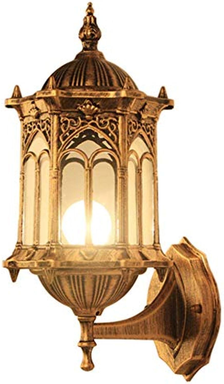 Mr. Fragile Auenwandleuchte,Messinglaternen-Metalldekorative Wandleuchte,Rustikale Klassische barocke Wandleuchte Light IP44 Wasserdichte Wandleuchte,für Gartenzaun-Treppen,E27,Keine Lichtquelle
