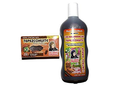 Set de Shampoo de Cacahuananche yTepezcohuite y Jabon de Tepezcohuite