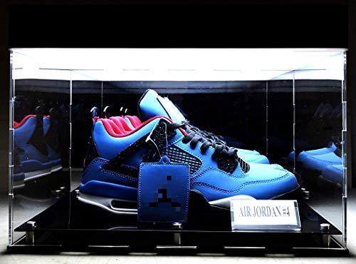 Aufbewahrungsbox mit LED-Display, Sammlerstücke, Basketball, Sneaker, Schuhe, Acryl, UV-Schutz, 38,1 x 30,5 x 22,9 cm (passend für 2 Schuhe)