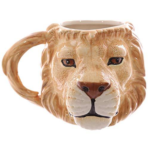 350 ml Taza animal 3D Rinoceronte/Tigre/Cabeza de león Tazas de cerámica Animal Drinkware Animal personalizado Taza de café Taza de té Novedad Regalos-4