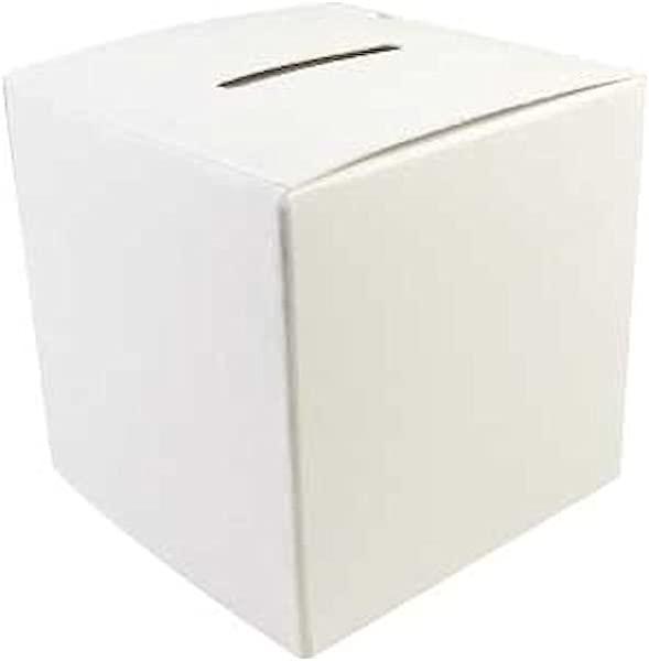 空白捐款箱为孩子自己上色集资 2 3 4 英寸箱 Pkg 50