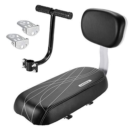 Gaetooely bicicleta asiento trasero reposabrazos reposapiés set, asiento trasero de la bicicleta