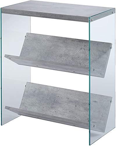Convenience Concepts SoHo Bookcase, Faux Birch / Glass
