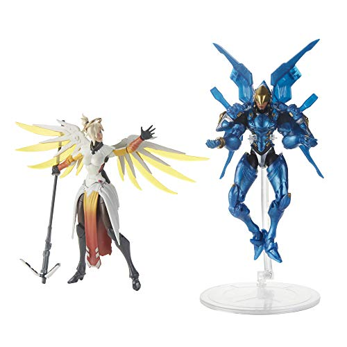 Overwatch Ultimates Series Pharah and Mercy Dual Pack 6-Inch-Scale Collectible Action Figures with Accessories – Blizzard Video Game Characters