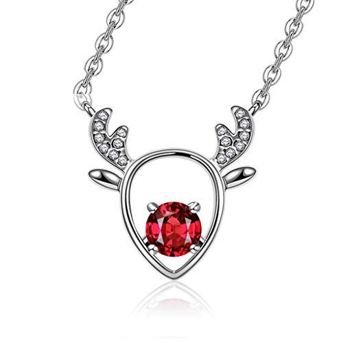 Collar Mujer Colgante Joyas de Piedras Preciosas Granate del corazón Collar de Plata Colgante de Las señoras de Regalos de Joyas Collares for Las Muchachas de Las Mujeres Collares