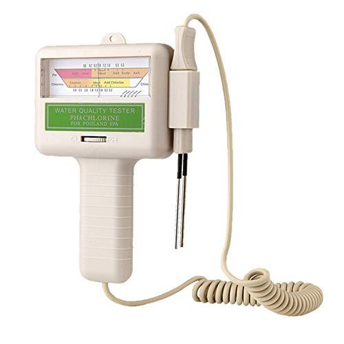 PUTOWUT PC101 Medidor de PH y CL2 Piscina 2 en 1 SPA Probador Digital de Calidad del Agua Detector de Análisis de Cloro Residual Monitor