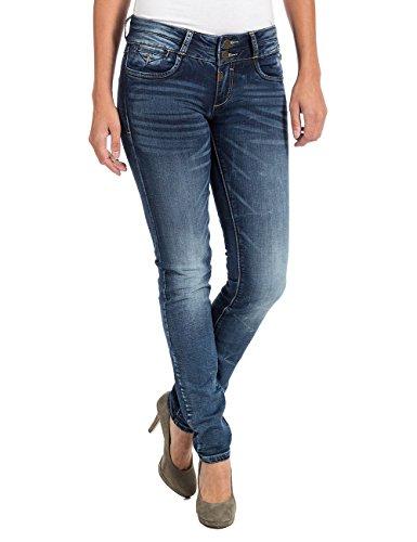 Timezone Damen EnyaTZ Slim Jeans, Blau (Workman Wash 3672), W28/L34 (Herstellergröße: 28/34)