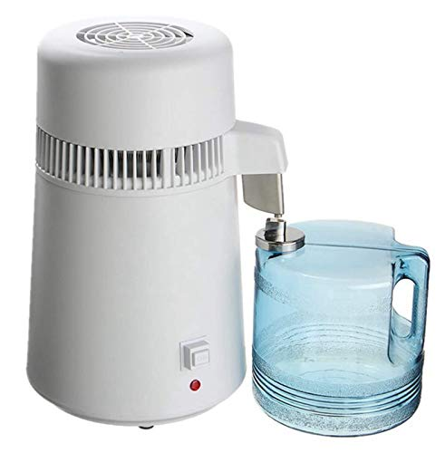 Wasser Destilliergerät, 4L Reinwasserbrenner Edelstahl Haushalt Interne Destillierte Reinwassermaschine, 750W.