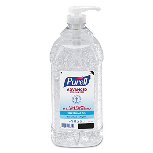 Purell Economy Size Pump Hand Sanitizer, 67.6 Oz, Fragrance-Free, Carton of 4
