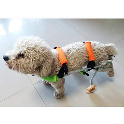 Dog Wheelchair Back Legs Walking Frame with Wheels Best Friend Joint Aid for Dogs Cat Exercise Wheel Support Wheelchairs (Size : S)