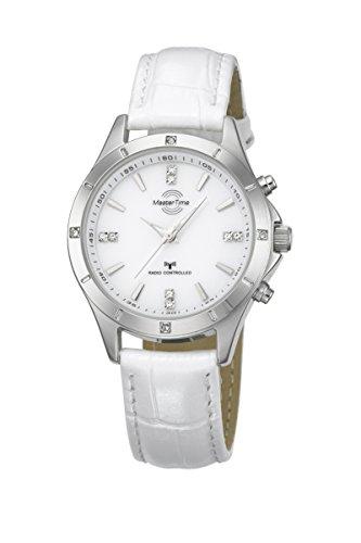 Master Time Funk Quarz Damen Uhr Analog mit Leder Armband MTLA-10337-11L
