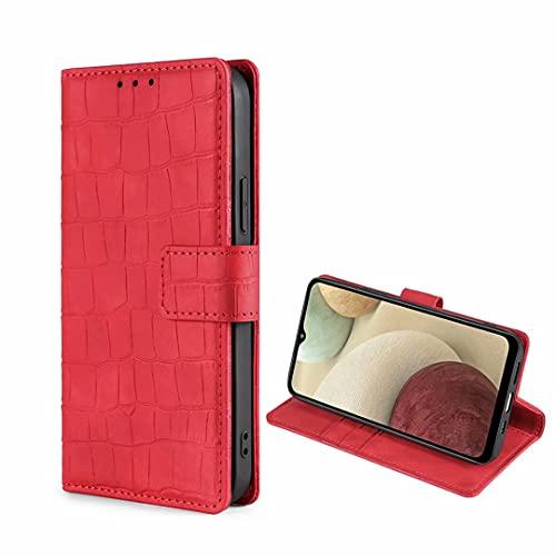 Funda Coque para OnePlus Nord N10 5G 6.49' Funda/Funda Protectora de Silicona Suave TPU, Funda de teléfono con Tapa con patrón de cocodrilo para OnePlus Nord N10 5G-Rojo
