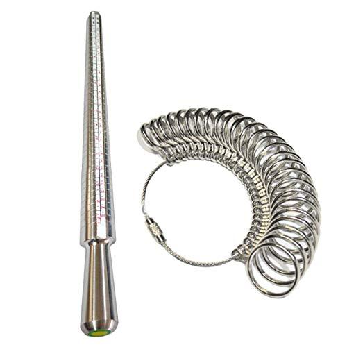 UK Ring AZ, Medidor Profesional de Anillos UK AZ Tamaño del Dedo Varilla de medición Anillo de Metal Mandril Medidor de Dedo Kit de joyería Herramienta de Compromiso