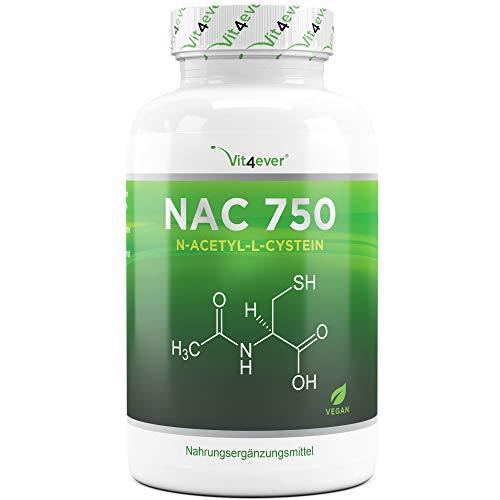 Vit4ever® NAC - N-Acetyl L-Cystein 180 Kapseln mit je 750 mg - 6 Monatsvorrat - Laborgeprüft - Vegan - Hochdosiert - Premium Qualität