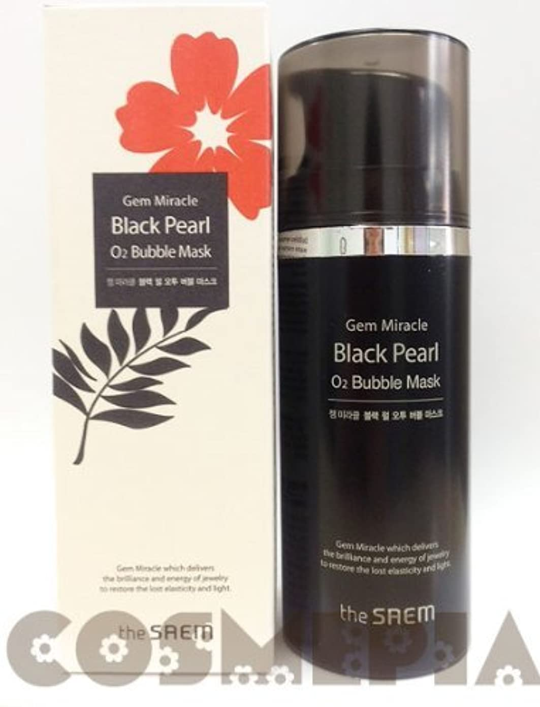 汚い近くホバービッグサイズ ザ?セム ジェム ミラクル ブラックパールO2 バブルマスク 105g the saem Gem Miracle Black Pea...