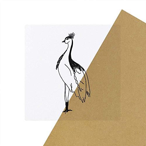 Azeeda 6 x 'Beautiful Bird' Clear Stickers (SK00040665)