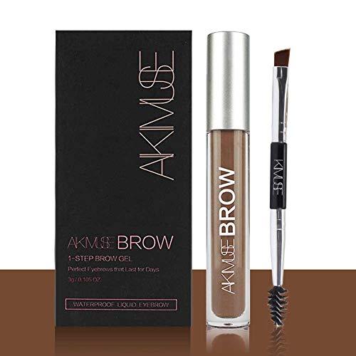 Eyebrow Gel - Waterproof, Natural, Long Lasting, Sweat Resistant, Transfer Proof, Fills and Thickens Brows, Smudge-Proof Tinted Liquid Brow Makeup Gel (Auburn)