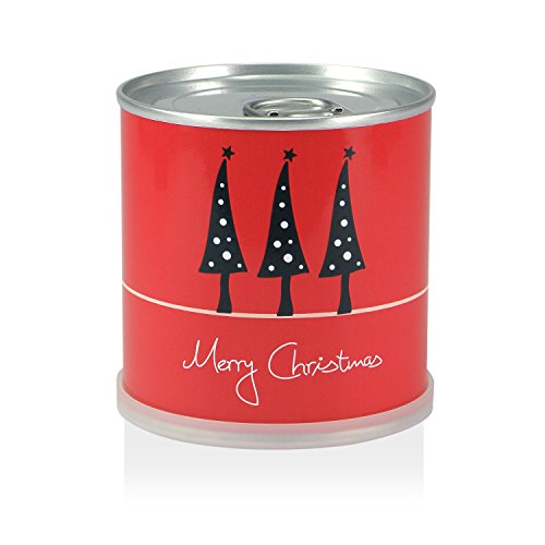 MacFlowers Weihnachtsbaum in der Dose - Merry Christmas Rot