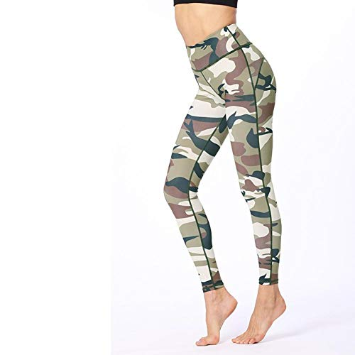Jejhmy hoge taille hip camouflage donkergroen Stijlvol en comfortabel, hoge taille Leggings Yoga Broek vrouwen hardloopbroek Sport Leggings, vrouwen Yoga Broek