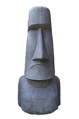 Neo-Therm Moai-Kopf 200 cm,Osterinseln,Figur, Garten, Dekoration, Steinguss,Gartenskulptur