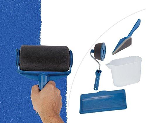 Mediashop Paint Runner Pro | Farbroller-Maler-Set | Kantenroller, Eckenstreicher, Füllkanne, Ablageschale | wiederbefüllbarer Farb-Tank | Tank-Farb-Walze | Mikrofaserbezug | Das Original aus dem TV