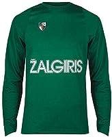 BC Zalgiris Kaunas Game Day Warm Up Long Sleeve T-Shirt Maglietta Ufficiale da Riscaldamento da Basket Uomo
