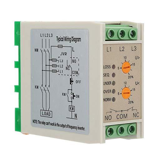 Spannungsüberwachungsrelais, 380VAC 50/60Hz Phasenüberwachungsrelais Überspannungsschutz