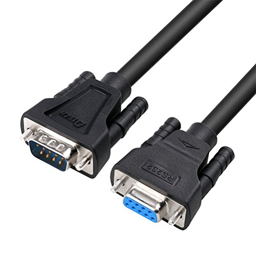 DTECH 15ft COM Port Serial Cable Male to Female RS232 Extension 9 Pin Straight Through Cord