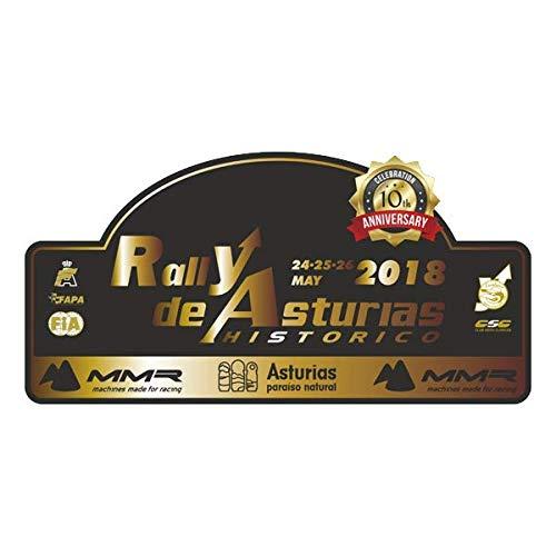 Pegatina Placa Rallye Asturias 2018 PR143