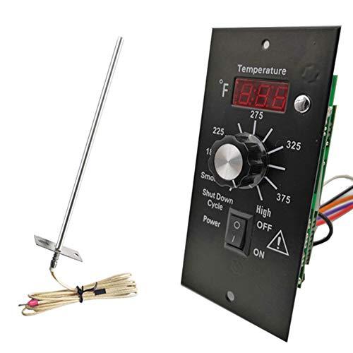 Topcl Digitales Thermostat Kit, Thermostat für Holz-Pelletgrills, Temperatur, vollständige Steuerung, Panel, Grill, Pelletofen