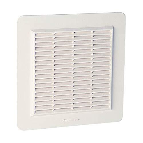 Nicoll - Grille d aeration speciale facade en applique carree blanc gapm4b