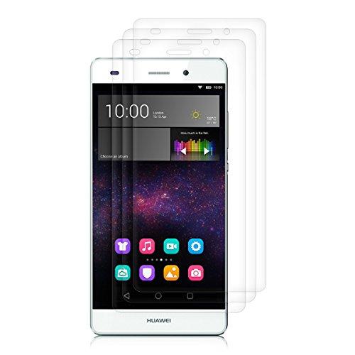 kwmobile 3X Folie kompatibel mit Huawei P8 Lite (2015) - klare Bildschirmschutzfolie Bildschirmschutz kristallklar Bildschirmfolie Schutzfolie