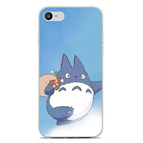 X-Art Transparent Fundas Slim Silicone Liquid Flexible Case Cover for Apple iPhone 6/6s, Totoro-Anime Neighbor-Cat 8