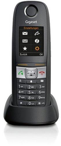 Gigaset E630 H Dect-Schnurlostelefon wasserdicht, staubgeschützt, stoßfest (IP65), zusätzliches Mobilteil, schwarz