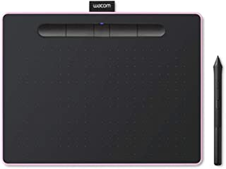 """Wacom Wacom Intuos Wireless Graphic Tablet, with 3 Free Creative Software downloads, 10.4""""x7.8"""", Berry (CTL6100WLP0),Berry..."""