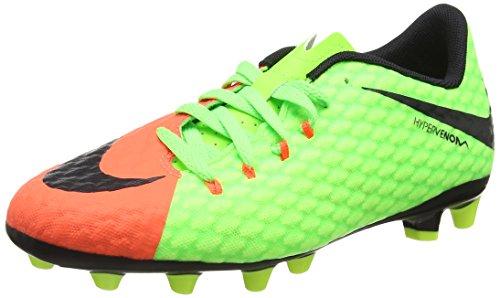 Nike Jr Hypervenom Phelon 3 Agpro, Botas de fútbol Unisex niños, Verde (Elctrc Green/Blk-Hypr Orng-Vlt), 38 EU