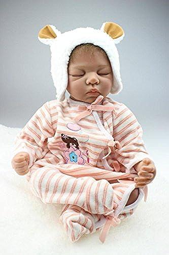 QXMEI 20-Zoll Reborn Babypuppe Weißes Silikon Simulierte Puppe mädchen Geburtstagsgeschenk Puppe 50cm