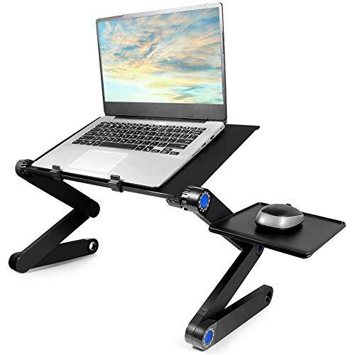 Suporte para laptop, suporte de cama ajustável Usoun para laptop, suporte para notebook portátil com mouse pad, compatível com MacBook Air Pro, Dell, Lenovo, laptop Alienware