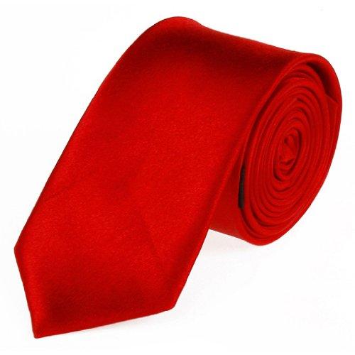 TOOGOO Banquet de Mariage ,Soiree Male Etoffe Soyeux Cravate, Mouchoir & Boutons de manchette Set -Rouge